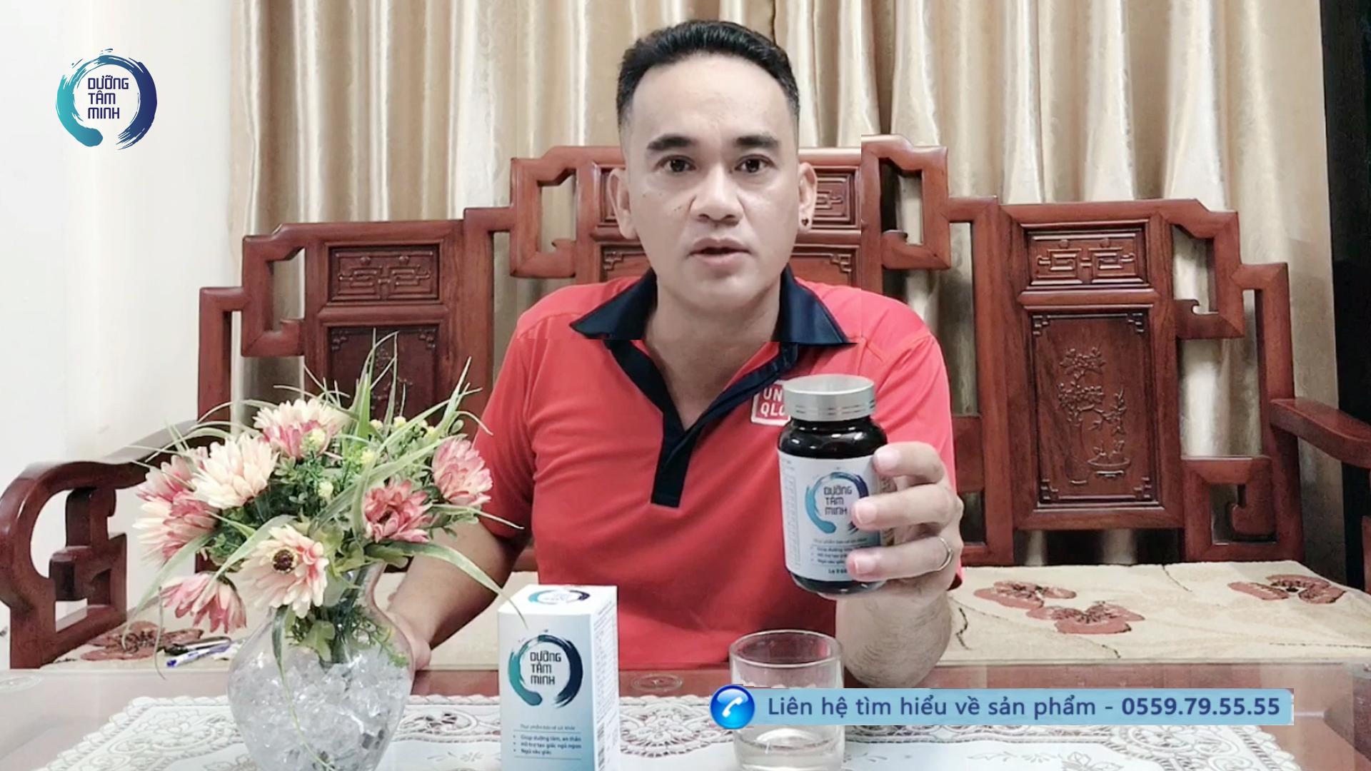Anh Quang sống tại Hà Nội chia sẻ về bệnh mất ngủ của anh và về sản phẩm Dưỡng Tâm Minh